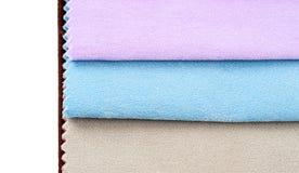 Kolorowi tkanin swatches Zdjęcia Stock