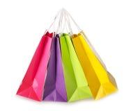 Kolorowi torba na zakupy Zdjęcia Stock