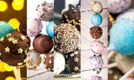 Kolorowi tortów wystrzały Obrazy Stock