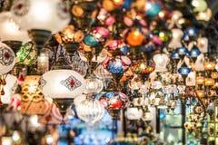 Kolorowi Tureccy lampiony Zdjęcia Stock