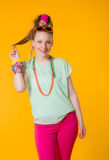 Kolorowi ubrania Fotografia Royalty Free