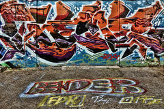 Kolorowi Uliczni graffiti Fotografia Royalty Free