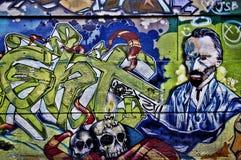 Kolorowi Uliczni graffiti Obrazy Royalty Free