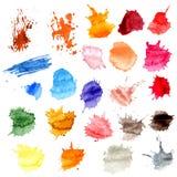 Kolorowi Wektorowi pluśnięcia - kleks, plamy Ustawiać Obraz Stock