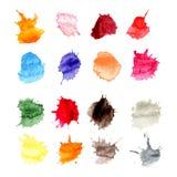 Kolorowi Wektorowi pluśnięcia - kleks, plamy Ustawiać Obraz Royalty Free