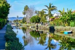 Kolorowi Wenecja kanały w Los Angeles, CA zdjęcie royalty free
