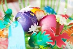 Kolorowi Wielkanocni jajka Zdjęcie Stock