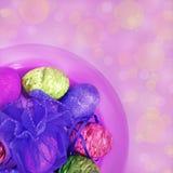 Kolorowi Wielkanocni jajka Zdjęcia Stock