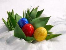 Kolorowi Wielkanocni jajka. Zdjęcie Royalty Free