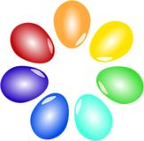 Kolorowi Wielkanocni jajka Obraz Stock