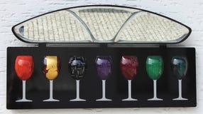 Kolorowi win szkła Fotografia Stock