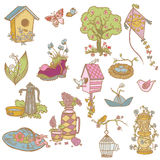 Kolorowi Wiosna Projekta Elementy royalty ilustracja