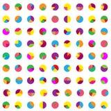 Kolorowi wykresy tapetowi Zdjęcie Royalty Free
