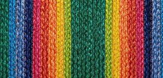 Kolorowi wyplatający sizal wełny dywanika taxtures & tło Obrazy Stock