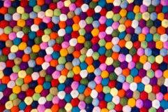 Kolorowi wyplatający wełna dywanika taxtures Obrazy Royalty Free