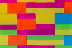 Kolorowi wyrzynarka bloki, dzieciak zabawka Obraz Royalty Free