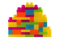 Kolorowi wyrzynarka bloki, dzieciak zabawka Zdjęcia Stock
