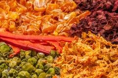 kolorowi wysuszeni warzywa Obrazy Royalty Free