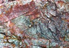 Kolorowi wzory i tekstury kamień dla tła Obrazy Royalty Free