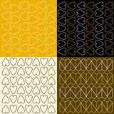 Kolorowi wzory z sercami Zdjęcia Royalty Free