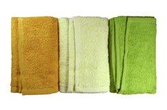 Kolorowi zdrojów ręczniki Fotografia Royalty Free