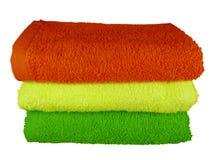Kolorowi zdrojów ręczniki Zdjęcie Royalty Free
