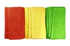 Kolorowi zdrojów ręczniki Zdjęcia Royalty Free