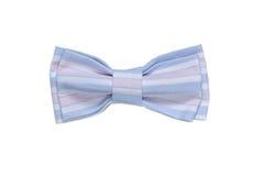 Kolorowy łęku krawat Odizolowywający Na Białym tle _ niebieskie tło abstrakcyjnych linie wektorowe Obrazy Stock