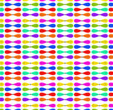 Kolorowy łęku wzór (deseniowy tło) Zdjęcie Royalty Free