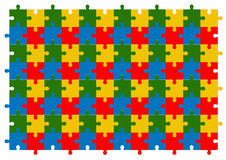 Kolorowy łamigłówki tła wektoru set Obraz Stock