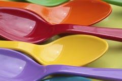 Kolorowy łyżki Zdjęcie Stock