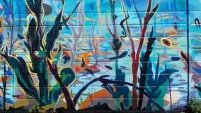 Kolorowy ścienny malowidło ścienne obraz royalty free