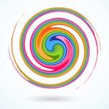 Kolorowy ślimakowaty Jaskrawy abstrakcjonistyczny kółkowy płodozmienny spirali A wzór kręcone barwione linie dla projekta i twórc ilustracji