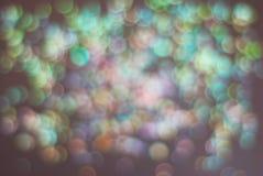 Kolorowy Świąteczny światła błyskotanie Shinny Abstrakcjonistycznego Bokeh tło Zdjęcie Royalty Free