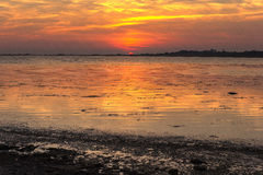 Kolorowy światło słoneczne na jeziorze Fotografia Royalty Free