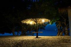 Kolorowy świt nad morzem fotografia stock