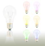 kolorowy żarówki światło Zdjęcie Royalty Free