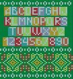 Kolorowy abecadło I Dziający Bezszwowy ornament ilustracja wektor