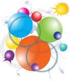 Kolorowy abstrakcjonistyczny akwareli kropli chełbotanie Obraz Stock