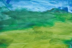 Kolorowy abstrakcjonistyczny akwareli tło ręka patroszona wally fotografia royalty free