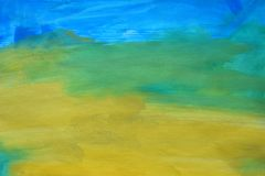 Kolorowy abstrakcjonistyczny akwareli tło ręka patroszona wally obraz stock