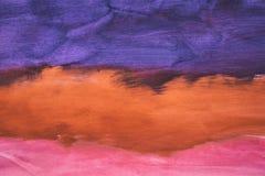 Kolorowy abstrakcjonistyczny akwareli tło ręka patroszona wally zdjęcie stock