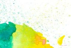 Kolorowy abstrakcjonistyczny akwareli tło Obraz Stock