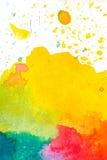 Kolorowy abstrakcjonistyczny akwareli tło Obraz Royalty Free