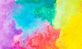 Kolorowy abstrakcjonistyczny akwareli tło Zdjęcia Royalty Free