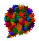 Kolorowy abstrakcjonistyczny bąbel Obraz Royalty Free