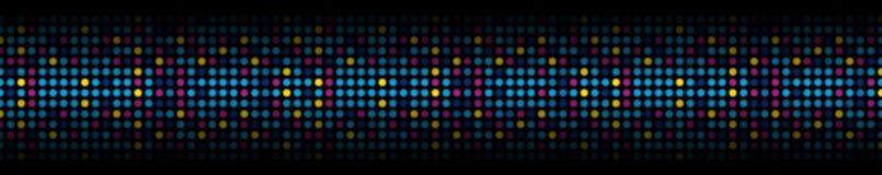 Kolorowy abstrakcjonistyczny błyszczący światło okrąża sieć chodnikowa sztandar royalty ilustracja