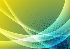 Kolorowy abstrakcjonistyczny błyszczący fala grunge tło Zdjęcie Royalty Free