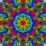 Kolorowy abstrakcjonistyczny bezszwowy wektoru wzór. Obraz Stock