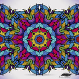 Kolorowy abstrakcjonistyczny bezszwowy wektoru wzór. Obraz Royalty Free